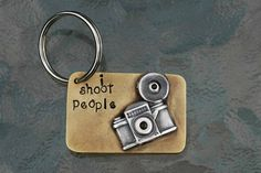 """Etsy key chain for photographers. """"I shoot people"""". Photographer gifts"""