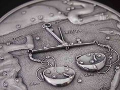 Zodiac symbol libra illustrated in a coin. Horoscope, Libra Astrology, Zodiac Symbols, Zodiac Signs, Coins, Personalized Items, Martie, Ox, Pictures