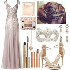 A fashion look from October 2016 featuring ankle strap sandals, pearl jewelry and heart locket. Browse and shop related looks. Masquerade Outfit, Masquerade Ball Gowns, Masquerade Party, Thomas Sabo, Dress Party, Dress Ideas, Swarovski, Lisa, Gucci