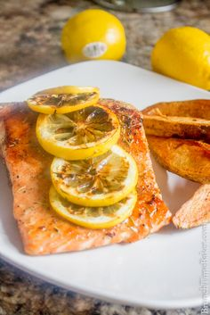 Mediterranean Grilled Salmon With Lemon and Herbs