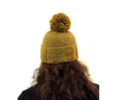 cf7bd0ffccc pompom toque in mustard yellow wool