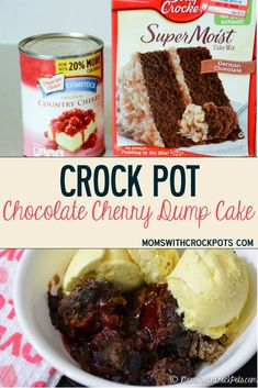 A delicous dessert for any night of the week. Try this yummy CrockPot Chocolate Cherry Dump Cake Recipe. Can be made gluten free and dairy free if needed. Love that you can make it in your slow cooker!