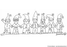 Coloring page gnomes
