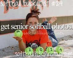 Softball senior pictures. With 2017 instead of 2014. I really like this idea!