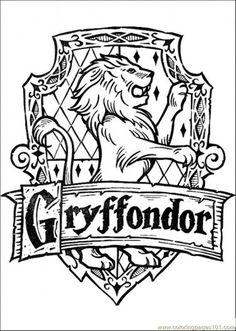free printable coloring image Gryffondor