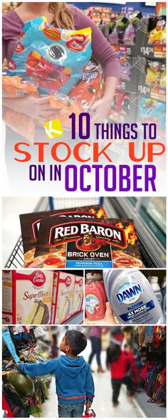 The Top Ten Things to Stock Up on In October