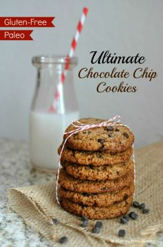 Ultimate Paleo Chocolate Chip Cookies. ☀CQ #GF #paleo #glutenfree