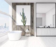 Cactus Print Botanical Wall art Minimalist Home Decor Green