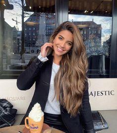 Luscious Balayage With Subtle Purple Tones - 20 Stunning Examples of Mushroom Brown Hair Color - The Trending Hairstyle Brown Hair Balayage, Brown Hair With Highlights, Color For Brown Hair, Light Brown Hair Colors, Summer Brown Hair, Curly Hair Styles, Natural Hair Styles, Natural Brown Hair, Long Brown Hair