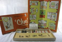 Clue Vintage 1956 Classic Detective Board Game Parker Brothers Complete USA #ParkerBrothers