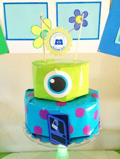 My sons Monsters Inc. Monsters Inc Baby Shower, Diaper Cake Centerpieces, Minions, Sons, Parties, Crafts, Fiestas, Manualidades, The Minions