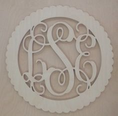 28 inch BORDER Vine connected monogram letters  by scrappinplus, $42.00