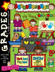 cute kindergarten clip art