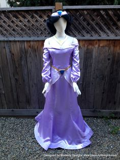 Hey, I found this really awesome Etsy listing at https://www.etsy.com/listing/172815815/jasmine-purple-dress-costume-adult-size