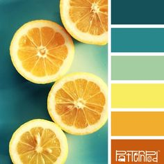 Color Palette - Orange and Teal Scheme Color, Colour Pallette, Colour Schemes, Color Patterns, Color Combinations, Mellow Yellow, Orange Yellow, Yellow Sea, Yellow Turquoise