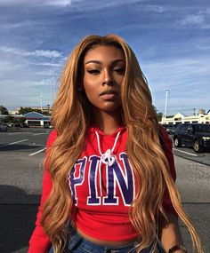 Online Shop Ombre hair color sew in human hair bundles and closure and frontal for brunettes colored hair for black off promotion factory cheap price,DHL worldwide shipping, store coupon available. Blonde Bayalage, Blonde Wig, Blonde Ombre, Ombre Hair, Ash Blonde, Carmel Blonde, Blond Rose, Real Wigs, Honey Blond