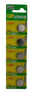 GP Lithium Coin Batteries 3v Size CR2025 ( Pack of 5 ) by GP. $3.59. - Brand new GP CR 2025 Lithium Cell Battery- Quantity: 5.- Nominal voltage: 3 Volts.- Nominal capacity of 150 mAh.- GP batteries are formulated to provide an economical and reliable power source for low to medium drain applications such as; watches, toys, remote controls, flashlights, calculators, and other devices.- These are not off-brand Asian batteries. These are name brand, high quality batteries m...