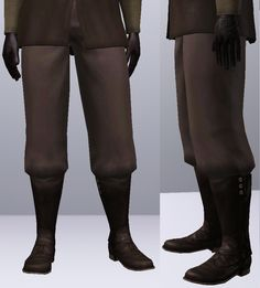Mod The Sims - Baggy Pants (that work with boots)