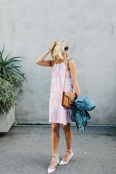 Summer street fashion.