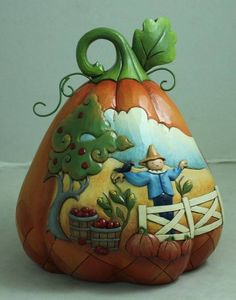 ♥ New Jim Shore Two Sided Pumpkin ♥