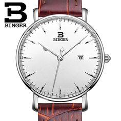 29.99$  Watch here - http://ai3a7.worlditems.win/all/product.php?id=32594498075 - Switzerland BINGER women watches luxury brand quartz leather strap ultrathin Complete Calendar Wristwatches Waterproof B3053W