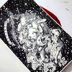 La dualidad de la mente la capacidad de ver las dos caras de una misma moneda y la versatilidad. El elemento aéreo las comunicaciones los viajes los hermanos los escritos la mente concreta y la primavera . . . . . . . . . . . . . . . . #illustration #ilustracion #art_conquest #artcartridge #art #artecolombia #artemedellin #arte #medellin #colombia #sketch #sketchbook #rapidografos #rapidograph #lettering #blackandwhite #dotwork #geminis #astros #zodiac #zodiaco #star #universe #drawing…