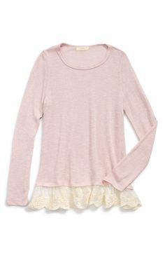 Soprano Lace Trim Sweater (Big Girls)