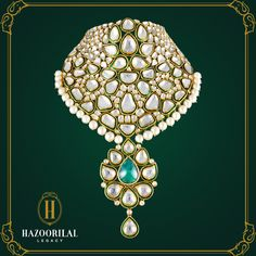 #PolkiPerfection: Imbue yourself with timeless jewellery from #HazoorilalLegacy and discover the epitome of magnificence and royalty. Visit our exclusive showrooms in South Extension Part 2, New Delhi: 011 - 4873 3333 and Gold Souk, Gurgaon: 0124 – 4115123
