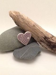Heart brooch ceramic £4.95
