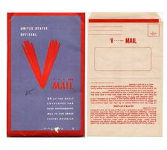 The design of V-Mail was to save space- one side having the message and then folded to hide it and only have the address appear. This allowed the mail to be both discreet and space-saving.