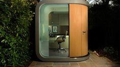 Look at Modern Backyard Office Backyard Office, Outdoor Office, Modern Backyard, Garden Office, Backyard Studio, Home Office Space, Home Office Design, House Design, Office Designs