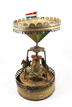 VERY RARE Antique Gunthermann Tin Wind Up door laBodegaAntiques, $3250.00