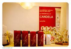 www.candela.at #hochzeitskerze #taufkerze #tischkerze #anlasskerze #kerzen Coffee, Drinks, Food, Candles, Table, Kaffee, Drinking, Drink, Meals
