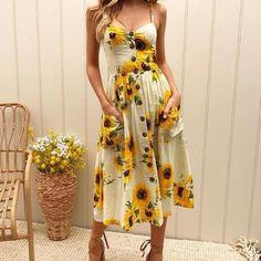 b763f34408f60 Sunflower Print Backless Sundress – Valentix Clothing