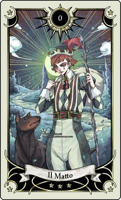 * Tarot card 0 * the Fool * by rann-poisoncage *