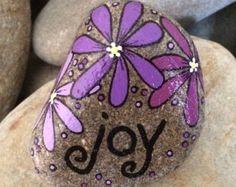 Happy Rock  Magic  Hand-Painted River Rock di LynnsFunCreations