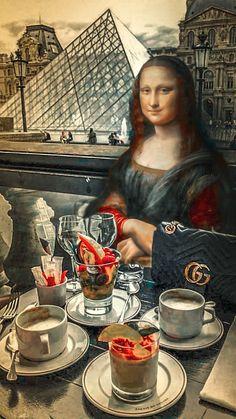 Mona Lisa Drawing, Mona Lisa Louvre, Ethiopian Beauty, La Madone, Mona Lisa Parody, Mona Lisa Smile, Nct Ten, Funny Art, Famous Women