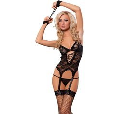 MELAND Women Sexy Lingerie Nightwear Lace Sleepwear G-string US Seller ( Black). One size for S dbde78a13