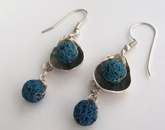 Silver dangle every day  earrings hand made unique & by Viyoli, $60.00