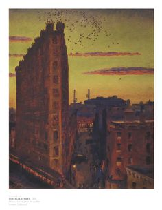 "John Sloan, ""Cornelia Street, New York"".  The critic Robert Hughes praised the influence of Sloan as ""the most lyrical, and politically acerbic of the Ashcan artists, 'a spectator of life', as he called himself. Sloan's work had an honest humane-ness, a frank sympathy,  and his strong sense of the moments in which ordinary people are seen unawares, or isolated, was to deeply affect the leading artist of the next century, Edward Hopper."""