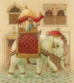 Kestutis Kasparavicius   WATERCOLOR   The White Elephant