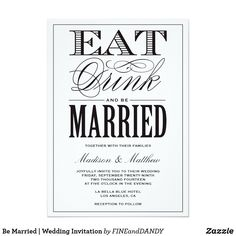 Be Married | Wedding Invitation
