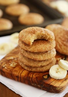Banana Snickerdoodles – Leftover bananas? Bake these super soft, chewy cinnamon spiced snickerdoodles with sweet banana flavor! thecomfortofcooking.com