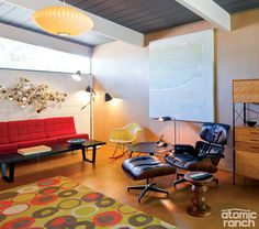 8 Area Rugs to Bring Color to Your Midcentury Space
