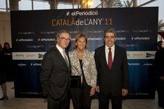 El alcalde de Barcelona, Xavier Trias; la presidenta del Parlament, Núria de Gispert, y el secretario general de Presidència, Francesc Hooms / DANNY CAMINAL