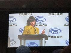 """Rebecca Welch on Twitter: """"#GinniferGoodwin and #Xfiles alum #glenmorgan here at WonderCon for a panel on #TheTwilightZone… """""""