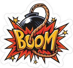 sticker. Boom (vector)