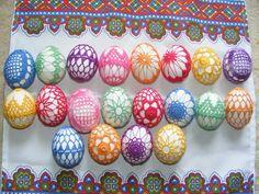 Háčkovaná velikonoční vajíčka / Zboží prodejce Nadja10   Fler.cz Crochet Stone, Crochet Art, Crochet Hooks, Happy Easter, Easter Bunny, Easter Eggs, Egg Tree, Christmas Crochet Patterns, Egg Designs