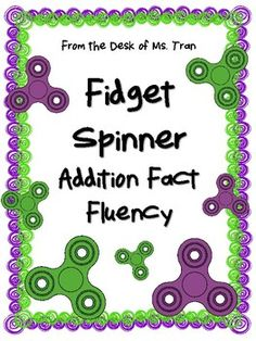 Fidget spinners are totally in! So why not incorporate them into your classroom in fun and useful ways? Here's an activity that will help student increase addition fact fluency using the fidget spinners as a timer. Spin, solve, and count the total number