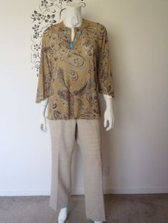 4-pc-Womens-Clothing-Lot-Career-Outfit-Pendleton-Anenue-Shirt-Pants-Size-14-16